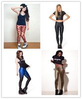ankle foot bones - Europe Tyrant gold leggings sexy Butt Lift pants feet black and white Halloween skeleton bones Fitness Slim was thin yoga pants