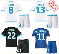 Wholesale 2016 Olympique de Marseille Soccer Jersey Batshuayi Maillot de Foot Payet Ocampos Lass Home Camisa football Shirt