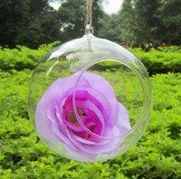 bamboo candle holder - 18Pcs EMS Dia12cm H14cm Hanging Glass Vase Candle Holder Round Bottom Wedding and Home Decor