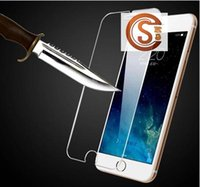 Wholesale 2 D Explosion Tempered Glass Screen Protectors For iPhone4s s plus Top Quality Cell Phone Screen Protectors