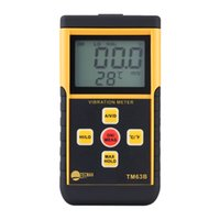 Wholesale Portable Digital Vibrometer Vibration Analyzer Tester Temperature Meter with LCD Backlight Maximum Value Hold Function