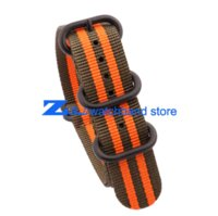 Wholesale 20mm mm nylon watchband with steel buckle waterproof Straps sport wrist NATO belt watch band Multi color can choose