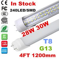 Wholesale 4ft m mm T8 Led Tube Lights Super Bright W W W W W Warm Natural Cool White Led Fluorescent Tube AC110 V CE ROHS UL FCC