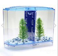 aquarium starter - BBT3 Twin Betta Bow Front Tank Aquarium Kit perfect starter kit for owners of a pair of Betta fish