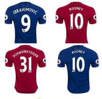 Wholesale 2016 Manchester soccer Jerseys with PL badge United football shirts POGBA jerseys IBRAHIMOVIC ROONEY MEMPHIS