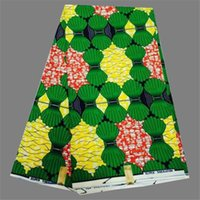 Wholesale Wonderful green design cotton African real wax fabric african fabric wax WF207 yards