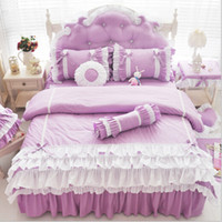 american cribs - Luxury Cotton Bedding sets king size BedSkirt bedspreads for girls pricess bed Nursery bedding Crib bedding Gift for girls