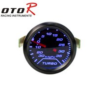 auto dash lights - quot mm Turbo Boost Gauge PSI Smoke Dial blue LED Light Interior Dash Auto Gauge Car Meter tachometer YC100179