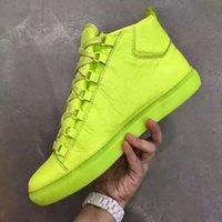 arena sizes - Male plus size wrinkle crack leather cowskin new arena sneakers for mens perfect quality kanye west shoes