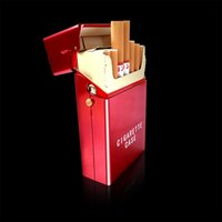 Wholesale Factory automatic cigarette case aluminum clamshell cigarette box gift box Cool