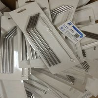 Wholesale Hot Yeti oz oz Stainless Steel Straw Metal Drinking Straw Beer Juice Straws Cleaning Brush Set Retail Packing Kit Fits