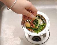 basin waste - Kitchen Basin Drain Dopant Sink Waste Strainer Basket Leach Plug Stainless Steel
