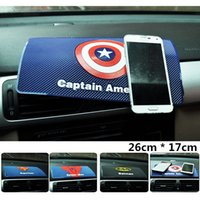 Wholesale For car mat magic anti non slip mat support mobile Captain American superhero man Dashboard under the car phone holder pad Large