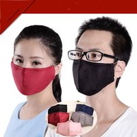 antifog mask - Adultcotton PM2 antifog mask dust storm mask solid color three dimensional fashion activated carbon masks