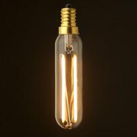 Wholesale Retro LED Long Filament Bulb W K E12 E14 Base Edison T20 T6 Clear Style Household Lights Dimmable