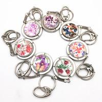 Wholesale 100 Key Ring Handbag Hook Zinc Alloy Crafts Bag Hanger Key Chains Foldable Bag Hook Holder Restaurant Luggage