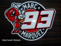 atv racing stickers - Moto GP Marc Marquez stickers reflective decals mtocross Formula adhesive sticker motorcycle racing ATV dirtbike