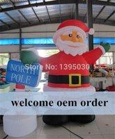 Wholesale pc M by DHL Santa Claus Design Inflatable Arch Inflatable Christmas Arch