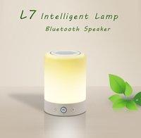 bass lamp - L7 Smart Night Lamp Bluetooth Speaker Deep Stereo Bass Wireless Mini Protable Speakers FM Audio Player Music Loudspeaker Colorful LED Light