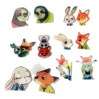 apple backside - Prettybaby zootopia cartoon figure model cell phone case backside skins animal Judy Nick Flash Acrylic phone sticker paster Pt0414 mi
