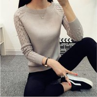 best cashmere sweaters - Winter Women Long Sleeve Gray Casual Cashmere Sweaters and Pullovers Female Lover Trendy Solid Pull Femme Best Knitted Sweater