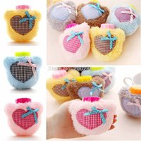Wholesale Home Office Travel Portable Pocket Warm Mini Hot Water Bag Bottle Heart Love Mini Water Filling Plush Hot Water Bottles x9