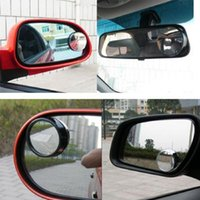Wholesale Wide Angle Round Convex Blind Spot Mirror Rear View Messaging Car Vehicle the black high quality