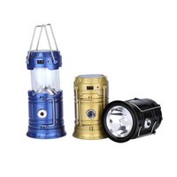 Wholesale Cheap Foldable Waterproof Portable Led Rechargeable Solar Powered Camping Lanterns Tent Lamps Lights With Mobile Phone Charger