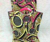 african bag designers - 2016 Elegant female bag yards multiple Colors sewing ankara african wax cloth designer handbags purses and handbags sets for party T7 NN01