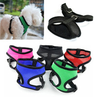 adjustable comfort harness - Soft Mesh pet control comfort harness harnesses safety collar strap vest for dog cat adjustable sizes colors DHL FEDEX