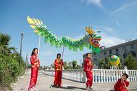 Wholesale 3 M children size CHINESE DRAGON DANCE silkFolk Festival Celebration Costume children to play