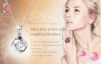 Wholesale 2016 Spring Collection Sterling Silver Chain Zircon Created Diamond Jewelry Spin love Necklace For Women Valentine s