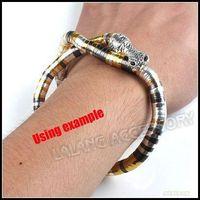 Wholesale 3pcs Iron Colorized Bendy Flexible Snake Chain Bracelet With Snake Head cm