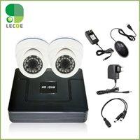 Wholesale 4CH DVR HVR NVR KIt Indoor TVL Dome Camera Video Security Kit CCTV DVR System