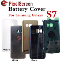 Wholesale Original New For Samsung Galaxy S7 G9300 Black White Gold Silver Back Glass Cover Rear Battery Cover Door Housing Case Replacement