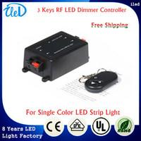 adjustable strip - DC V Adjustable LED light Control Wireless Remote LED RF Dimmer Brightness Controller For Single Color LED Strip SMD