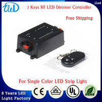 Black rf light wireless remote control - DC V Adjustable LED light Control Wireless Remote LED RF Dimmer Brightness Controller For Single Color LED Strip SMD