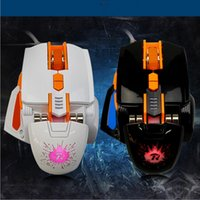 Wholesale Hot Selling Colorful LED Black Mechanical D Gaming Mouse Adjustable DPI Gamer Mouse with Replacement Back Cover