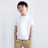 Wholesale 2016 new summer physical education boys girls cotton freehand activity pure white T shirts years baby boy kid children PEclass tees
