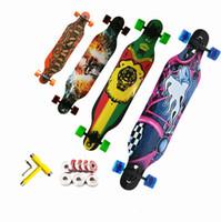Wholesale 2016 wooden adult skateboard drop downhill speed Flat plate longboard
