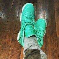 aqua silk - Retro XI High Teal Aqua Green Sneakers Good Quality Man Women Basketball Shoes Sizes US Cheap