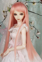 Wholesale New BJD SD DOC DOD LUT Pullip Dal MSD Dollfie Doll Wig Long Straight Pink GA010