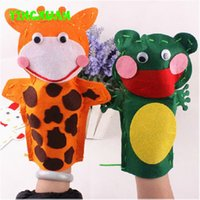 animal stories cow - 5pcs Kids DIY Handmade Cartoon Animal Hand Cloth Puppet dolls Story Telling handcraft Kits Felt Fabric Craft Cow Frog