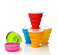 Wholesale Outdoor portable folding cup multi function creative cup the silicone portable folding The silicone folding cups DHL