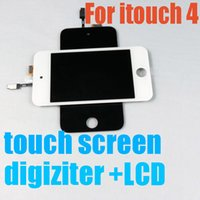 apple itouch new - high quality products New Black and white Touch screen Digitizer Assembly LCD for itouch