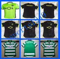 Wholesale rugby Away Home Sporting Lisbon jerseys Shirt Luis Figo Nani TEO Slimani William Montero jersey Sporting Clube
