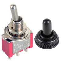 Wholesale 1Pc Red pin MTS SPDT Miniature Toggle Switches ON ON Waterproof Cap B00063 CADR
