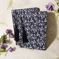 accounting white paper - Retro Sketchbook handmade wire bound Diary jotter fabric Chinese idyllic Notepads blue white cloth art series school supplies