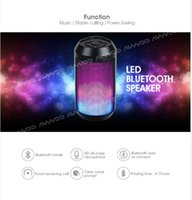 beat cans - Portable wireless mini Bluetooth Speaker with colorful changing lights can dance with the beats and handsfree function