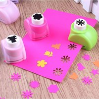 Wholesale Azerin DIY Paper Punch Cutter Kid Child Mini Printing Hand Shaper Scrapbook Tags Cards Craft Tool